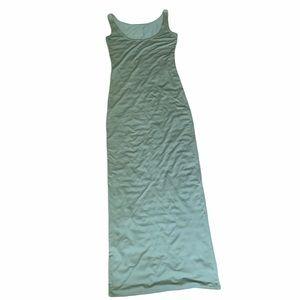 Green bodycon tank maxi dress sleeveless
